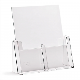 2 Pocket DL portrait brochure holder