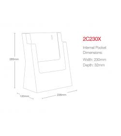 2 Pocket A4 Portrait Leaflet Holder