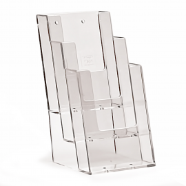 3 Pocket 1/3rd A4 Portrait Leaflet Holder