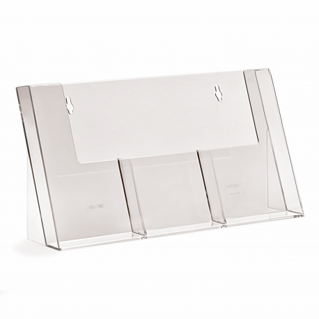 3 Pocket 1/3rd A4/DL Portrait Leaflet Holder