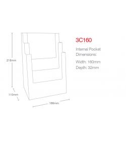 3 Pocket A5 Portrait Leaflet Holder