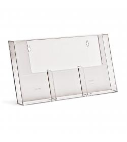 3 Pocket 1/3rd A4/DL Portrait Leaflet Holder