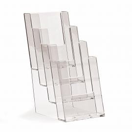 4 Pocket 1/3rd A4/DL Portrait Leaflet Holder