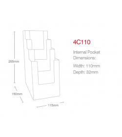 4 Pocket 1/3rd A4/DL Portrait Leaflet Holder