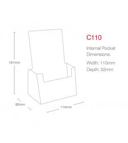1 Pocket 1/3rd A4/DL Portrait Leaflet Holder