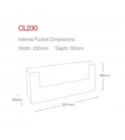 1 Pocket 1/3rd A4/DL Landscape Leaflet Holder