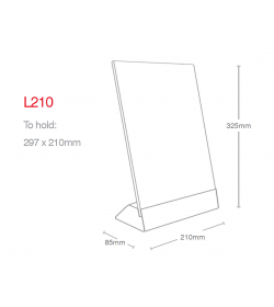 A4 Angled Information Holder