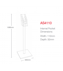 4 Pocket 1/3rd A4/DL A4 Luxury Floor Stand