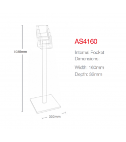 4 Pocket A5 Luxury Floor Stand