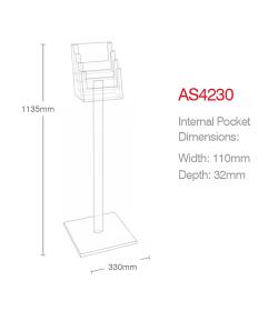 4 Pocket A4 Luxury Floor Stand