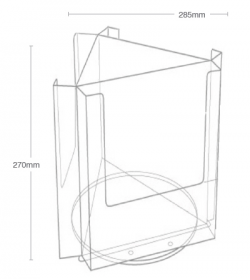 3 Pocket A4 Desktop Spinner