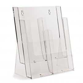 4 Pocket 1/3rd A4 / DL Portrait Leaflet Holder