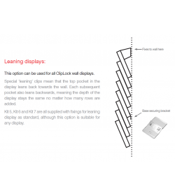 CL-LC used to begin installing leaning wall displays