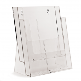 2 Pocket A4 Portrait Leaflet Holder
