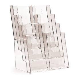 8 Pocket 1/3rd A4 / DL Portrait Leaflet Holder